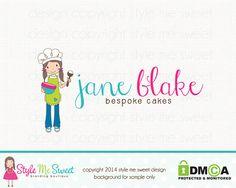 Bakery Logo Design Cake Logo Design Cupcake by stylemesweetdesign