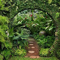 Moon Gate, Bevis Bawa's Garden, Sri Lanka