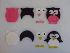 owl and penguin shapes