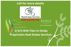 Areas 930sq-Ft, 1075sq-Ft, 1225sq-Ft, 1500sq-Ft 1720sq-Ft are available in ridge residency for best price. Ridge residency is beautifully located. http://www.todayridgeresidencynoida.com/ Amenities - That everybody wishes for. 2/3/4 bedroom options.(1075 sqft to 2450sqft.),  Big entrance lobbies, Swimming  pool, Club house.