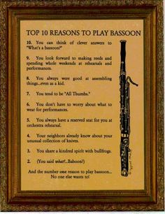 Top ten reasons to play the #bassoon !!!