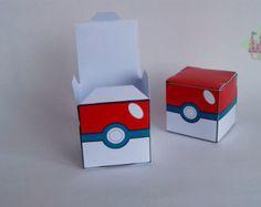 Pokeball Candy Box Pokemon Geburtstagsparty von PaperCastleParty