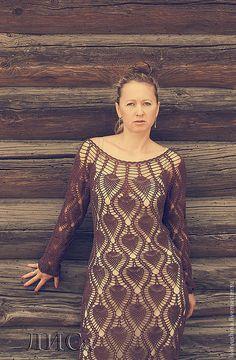 Купить Грёзы. - платье, вязаное платье, платье крючком, Коктейльное платье, пляжное платье, однотонный