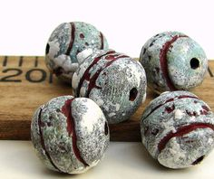 Handmade Polymer Clay Round Beads Ancient by BeadsByEarthTones, $10.99