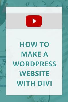 You need a new website. Or, maybe you need a new Wordpress theme. As I said in my last blog, Divi is one of my favorite themes! I shared in my blog post, my favorite features, so now I'm showing you how to start building your Wordpress website with Flywheel and Divi.