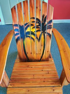 Hand Painted  Sunset Adirondack Chair, Sunset. $199.00, via Etsy.