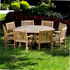 9 piece Buckingham Veranda Dining Set features one Buckingham Round Table and eight Veranda Dining Armchairs. All our Teak outdoor furniture comes with a Lifetime Warranty. Teak Dining Chairs, Outdoor Tables And Chairs, Teak Table, Dining Set, Outdoor Dining, Outdoor Decor, Patio Dining, Dining Tables, Dining Room