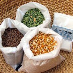 White produce or bulk food bags by Kootsac