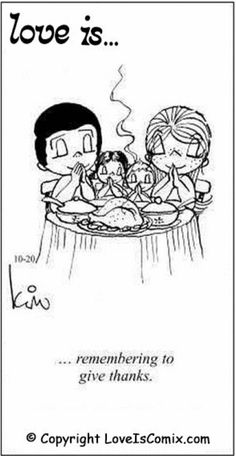 Love is comics thanksgiving