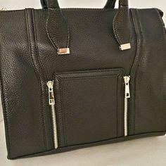 Black satchel Classic Zip Satchel Synthetic leather Color: black Brand new! Boutique Bags Satchels
