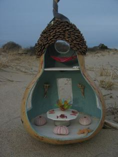 Enchanted Gourds Fairy Houses - has many room ideas