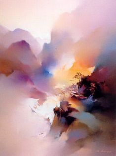 Kai Fine Art is an art website, shows painting and illustration works all over the world. Watercolor Landscape, Abstract Watercolor, Landscape Art, Landscape Paintings, Watercolor Paintings, Abstract Art, Landscapes, Watercolors, Asian Art