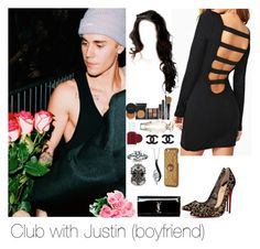 """Club with Justin"" by myllenna-malik ❤ liked on Polyvore featuring Christian Louboutin, Essie, Victoria's Secret, Alexander McQueen, Sirena, Moschino, Yves Saint Laurent, bieber and JustinBieber"