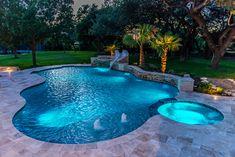 Freeform Pool Designs by Cody Pools in Austin, Houston and San Antonio – Leah Daecher Small Backyard Pools, Backyard Pool Landscaping, Backyard Pool Designs, Swimming Pools Backyard, Swimming Pool Designs, Outdoor Pool, Best Swimming Pools, Landscaping Ideas, Waterfalls