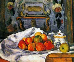 Still Life, Bowl of Apples - Cezanne