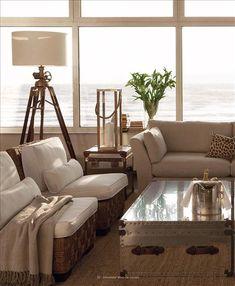 neutral coastal living room