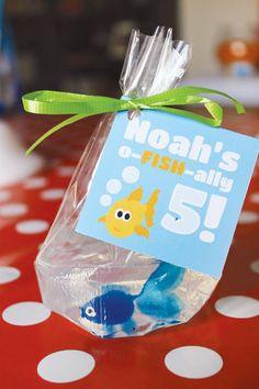 Bubbly & Cute Goldfish Birthday Party {5th Birthday}