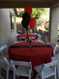 Red Black Graduation party