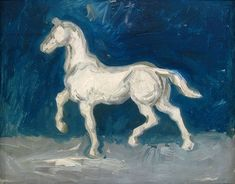Art of the Day: Van Gogh, Plaster Statuette of a Horse, Spring Oil on cardboard, 33 x 41 cm. Theo Van Gogh, History Of Modern Art, Vincent Willem Van Gogh, Painted Vans, Day Van, Van Gogh Art, Van Gogh Museum, Impressionist Artists, Dutch Artists