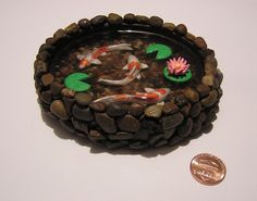 Resin Koi Pond by VolpeArtica08.deviantart.com on @deviantART