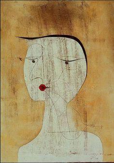 Paul Klee (Suisse 1879-1940), Femme scellée (ou couturée) 1930. Aquarelle, stylo et encre sur papier couché Ingres, 48,5 x 34,7 cm