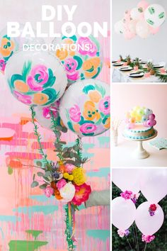 Decorate your next birthday party with these simple birthday decorating ideas from balloon centerpieces, balloon backdrops or a balloon garland.  Make one of these creative DIY balloon decoration ideas in less than two hours by following their step-by-step tutorial. Click the link to learn how to make one of these easy DIY balloon decorations without helium. #balloonarch #balloondecorations #balloongarland #partydecor #diypartydecor #ballooncenterpiece #birthdaydecorations