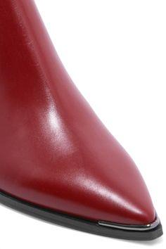 Acne Studios - Jensen Leather Ankle Boots - Brick - IT35