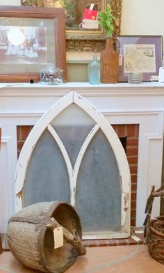 Great antique arched window!