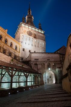 Sighisoara - Romania, alleged birthplace of Vlad the Implaler,  beautifully preserved citadel,  never conquered...