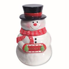 Snowman Cookie Jar | Snowman Cookie Jar | COOKIE JARS ~ SNOWMAN | Pinterest