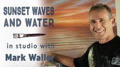 Acrylic Sunset Wave Painting Tips Acrylic Painting Lessons, Painting Process, Painting Art, Paintings, Art Tutorials, Painting Tutorials, Improve Yourself, Waves, Sunset