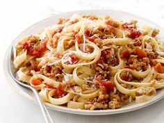 Fettuccine With Quick Ragu - This looks like a (much quicker) version of the bolognese sauce that I make when I have the time and the desire to spend hours making a sauce.  That sauce is a family favorite, but this looks tasty, too.