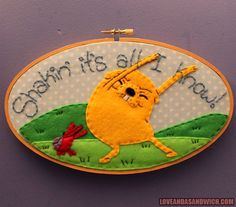 Adventure Time Embroidery Samplers