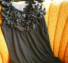Ruffled tank top - this looks easy to make and is SO cute!