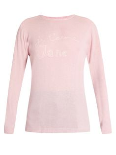 BELLA FREUD Je T'aime Jane cashmere sweater. #bellafreud #cloth #sweater