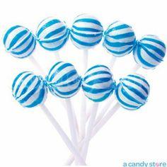 Blue Striped Ball Petite Lollipops - 400ct $25.99