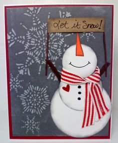 Inspired by Pinterest - Stampin' Up: snowflake embossing folder, circle bunches