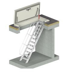 The STAKA roof access hatch with ladder is used in many premises with flat roofs. Roof Access Hatch, Roof Hatch, Roof Lantern, Roof Window, Rooftop Terrace, Elements Of Design, Glass Roof, Patio Roof, House Front