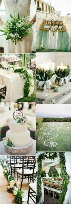 b18586f7d4f 40 Romantic and Timeless Green Wedding Color Ideas
