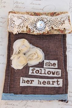 What a cute idea: She follows her heart jewelry bag - $35.00 : Beth Quinn Designs , Romantic Inspirational Jewelry