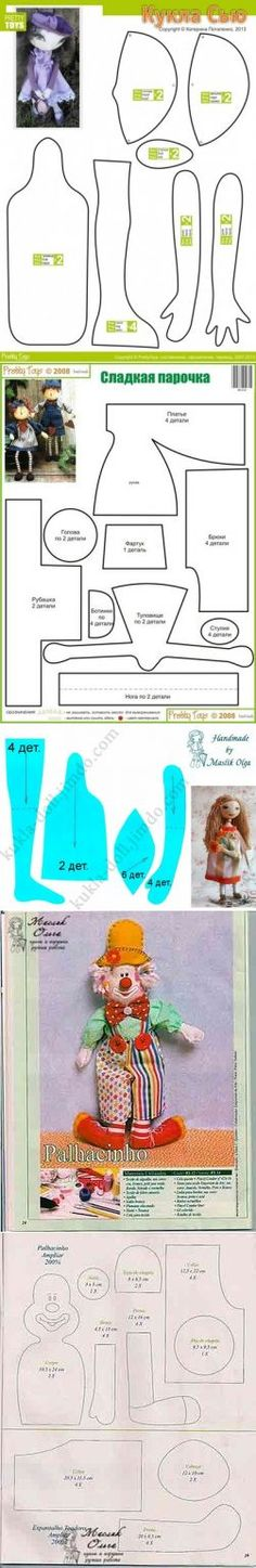 Desen bebek ve oyuncak - bebek el yapımı tilde, bebek melekler, peri, tekstil tavşan.  Bebek ve oyuncak Kalıpları