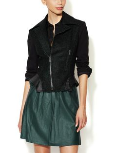Francis Leather Trimmed Wool Jacket