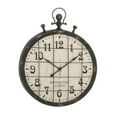 "Trent Austin Design Oversized 39"" Metal Wall Clock & Reviews | Wayfair"