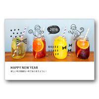 年賀状デザイン・イラスト素材のダウンロード | おしゃれ年賀状 | アフロ モール(Aflo Mall)