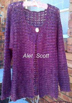 My Cardigan with One of A Kind 4-ply 100% wool.....
