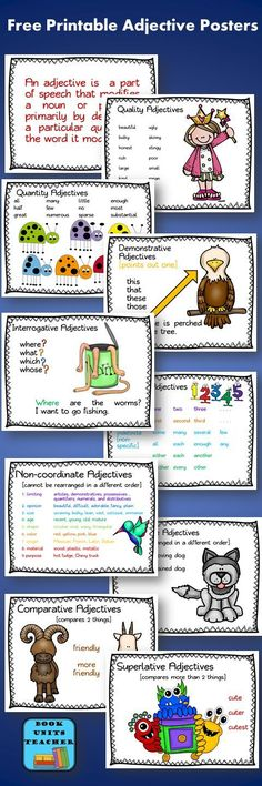 Free Printable Adjective Posters