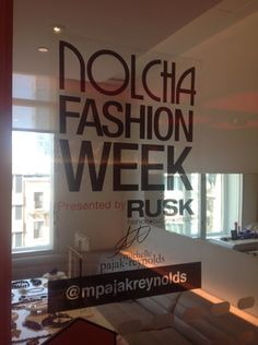 ​Michelle Pajak-Reynolds's private Club Cabin display/meeting space during Nolcha's Fashion Lounge & Media Brunch at Yotel
