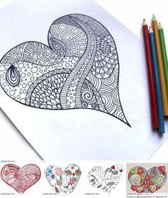 Zentangle Valentine's Day