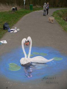 """Swan"" by ~Nikolaj-Arndt on deviantART #swan #swans"