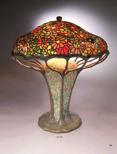 Michaan's Auctions is honored to present remarkable Tiffany artworks from The Garden Museum Collection on Saturday, November 2012 in Alameda, California. The select grouping from one of the finest Tiffany collections ever known will account for. Tiffany Stained Glass, Stained Glass Lamps, Tiffany Glass, Stained Glass Panels, Leaded Glass, Louis Comfort Tiffany, Art Deco Lamps, Art Deco Lighting, Studio Lamp